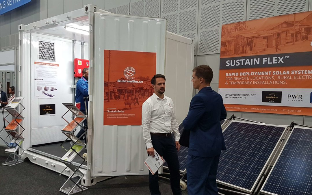 SustainSolar and PWRstation launched Sustain Flex at African Utility Week